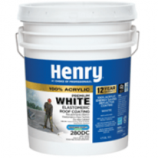 100 - 5 gal Henry 288 White Elastomeric Roof Coating