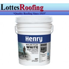 30 - 5 gal pail Henry 287SF White Rubber Roof Coating
