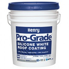 100 - 5 gal pail Henry  988 PRO GRADE VARIOUS COLORS SILICONE Rubber Roof Coating