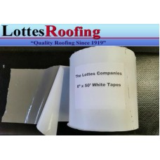 """6"""" x 25' Roll  WHITE  Roof UNIVERSAL COVER & FLASHING TAPE  PRIMER NOT REQUIRED"""